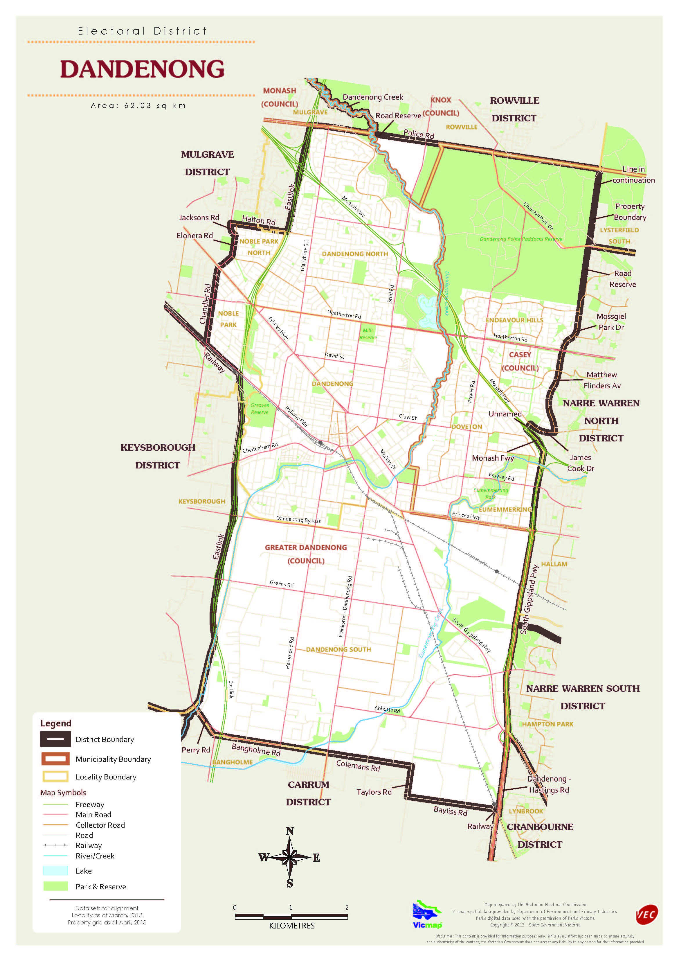 Dandenong District MapHR